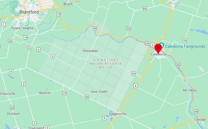 Caledonia, Ont., is located near Brantford.