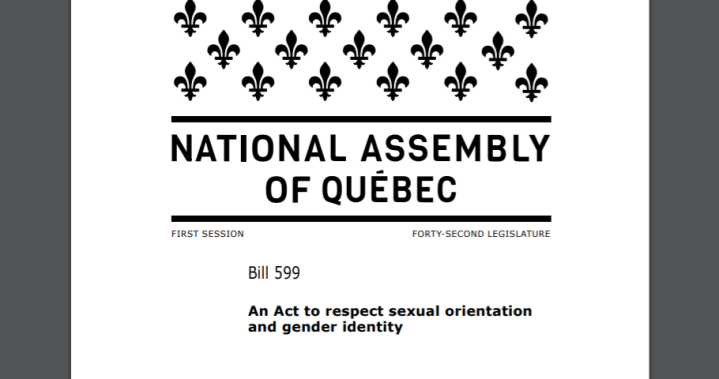 Quebec Liberals introduce bill to ban conversion therapy
