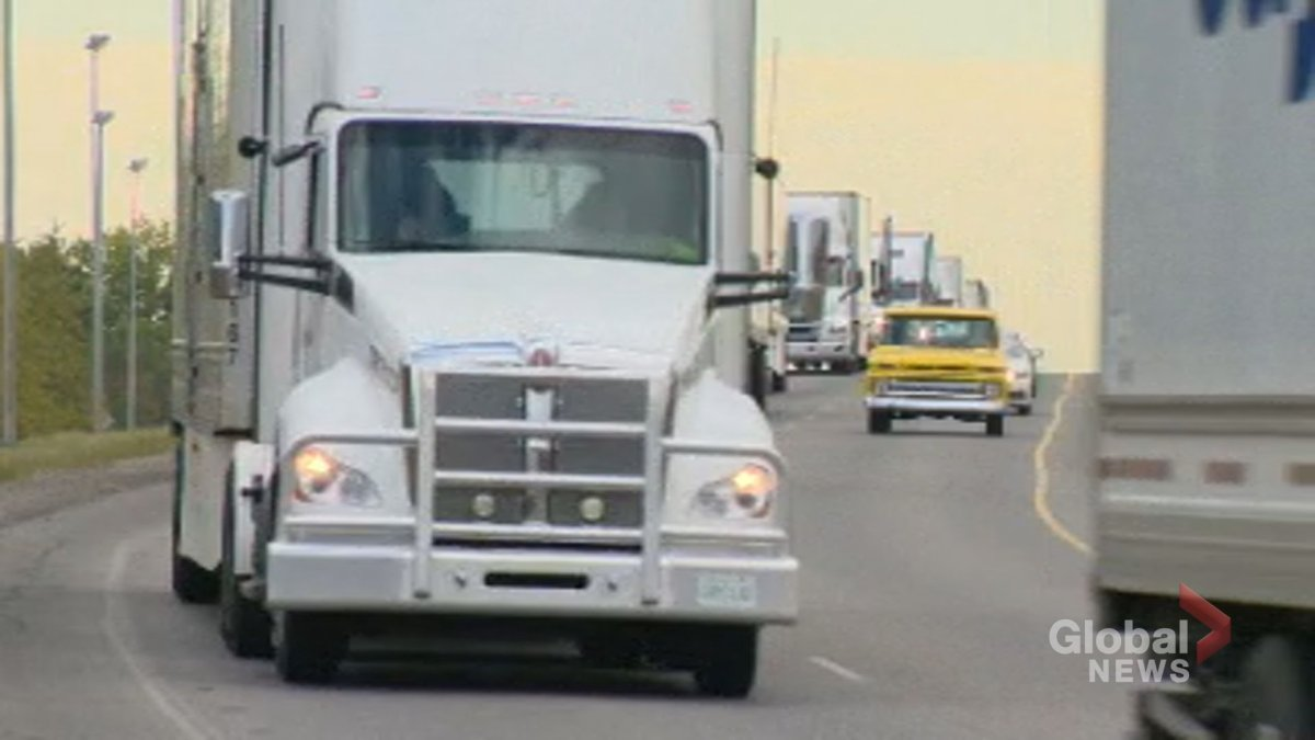A truck convoy circled the city of Regina on Saturday, Sept. 12, to raise money for Special Olympics Saskatchewan.