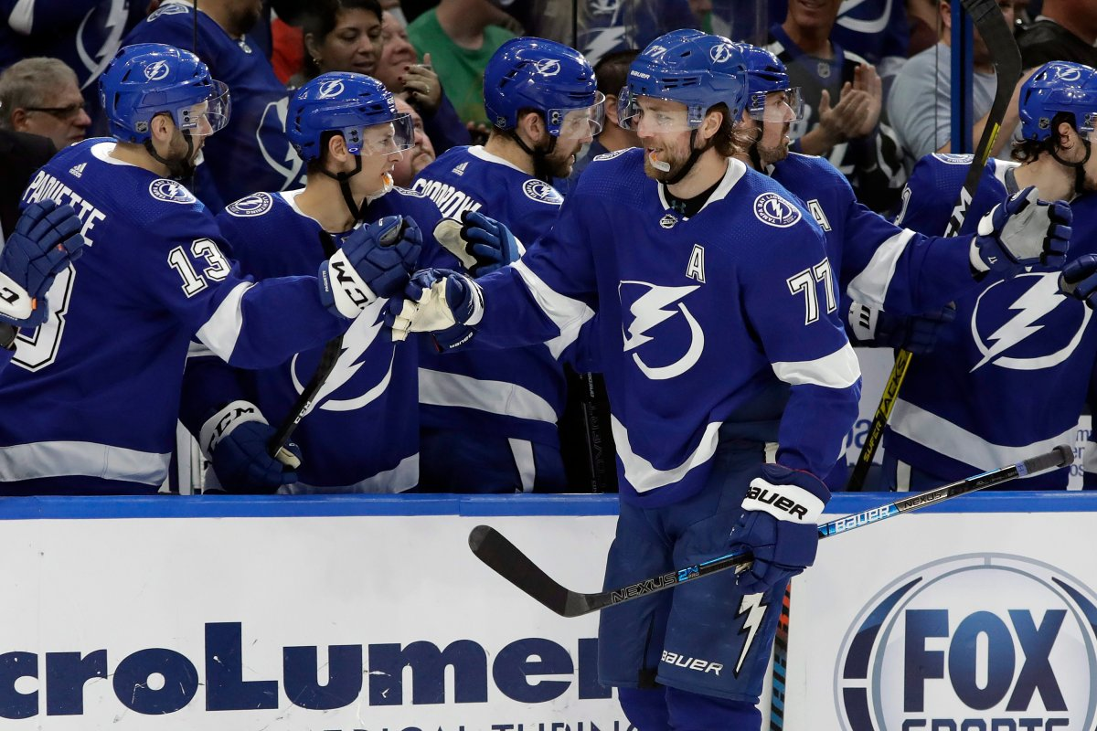 Tampa Bay Lightning defenceman Victor Hedman (77) is one of the favourites to win this year's NHL playoff MVP award.
