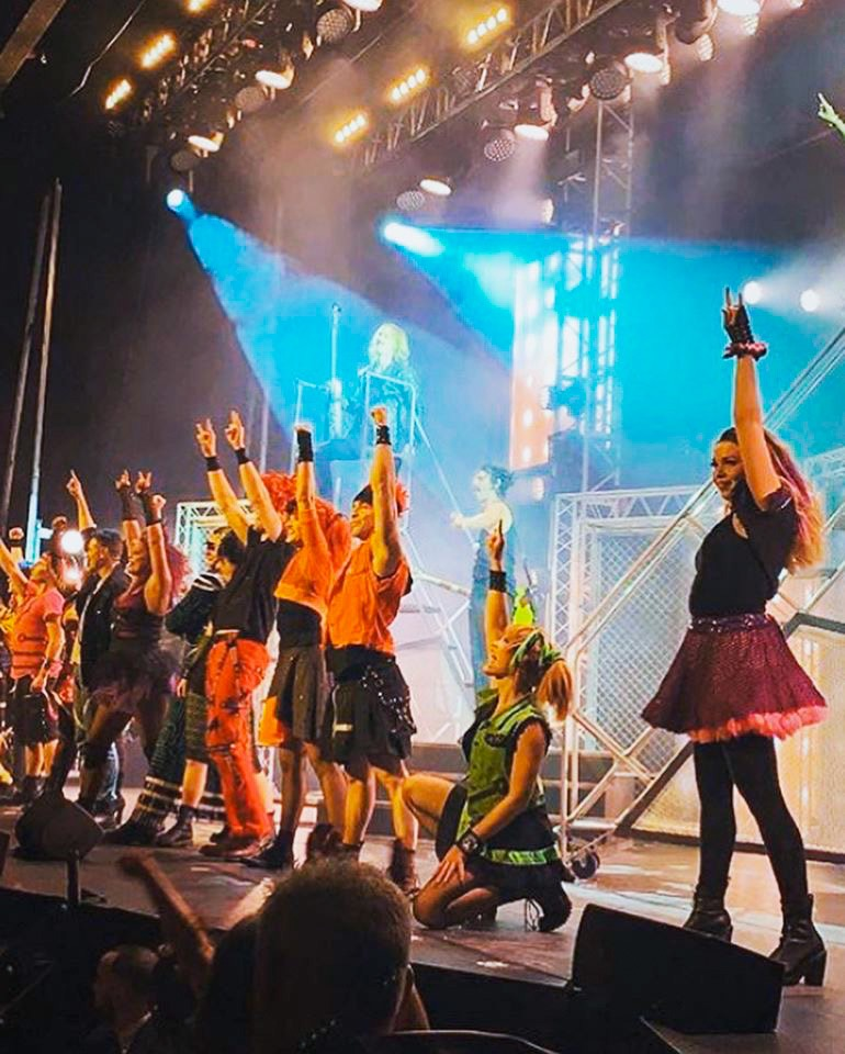Calgary born Hannah Smart in the touring production of 'We Will Rock You'
