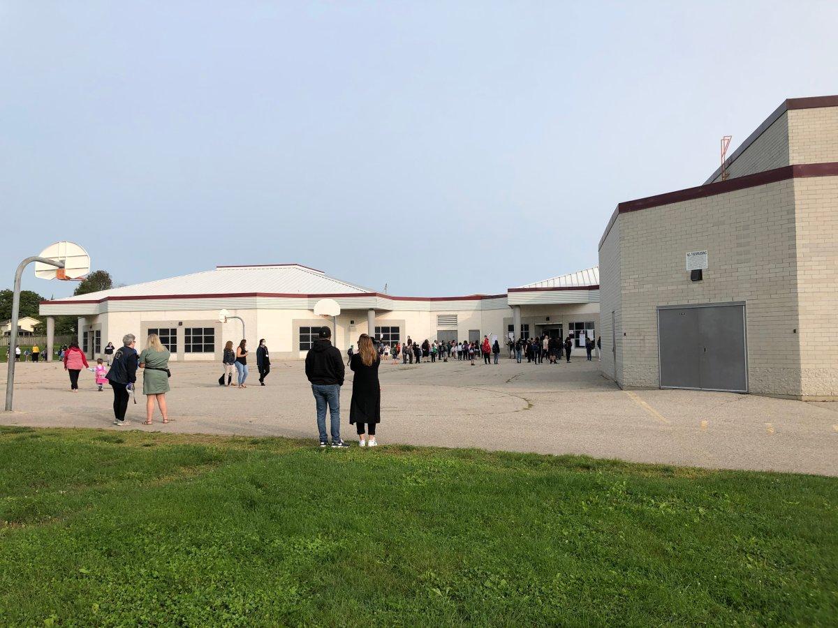 The yard of Bonaventure Meadows Public School on Monday, Sept. 14, 2020.