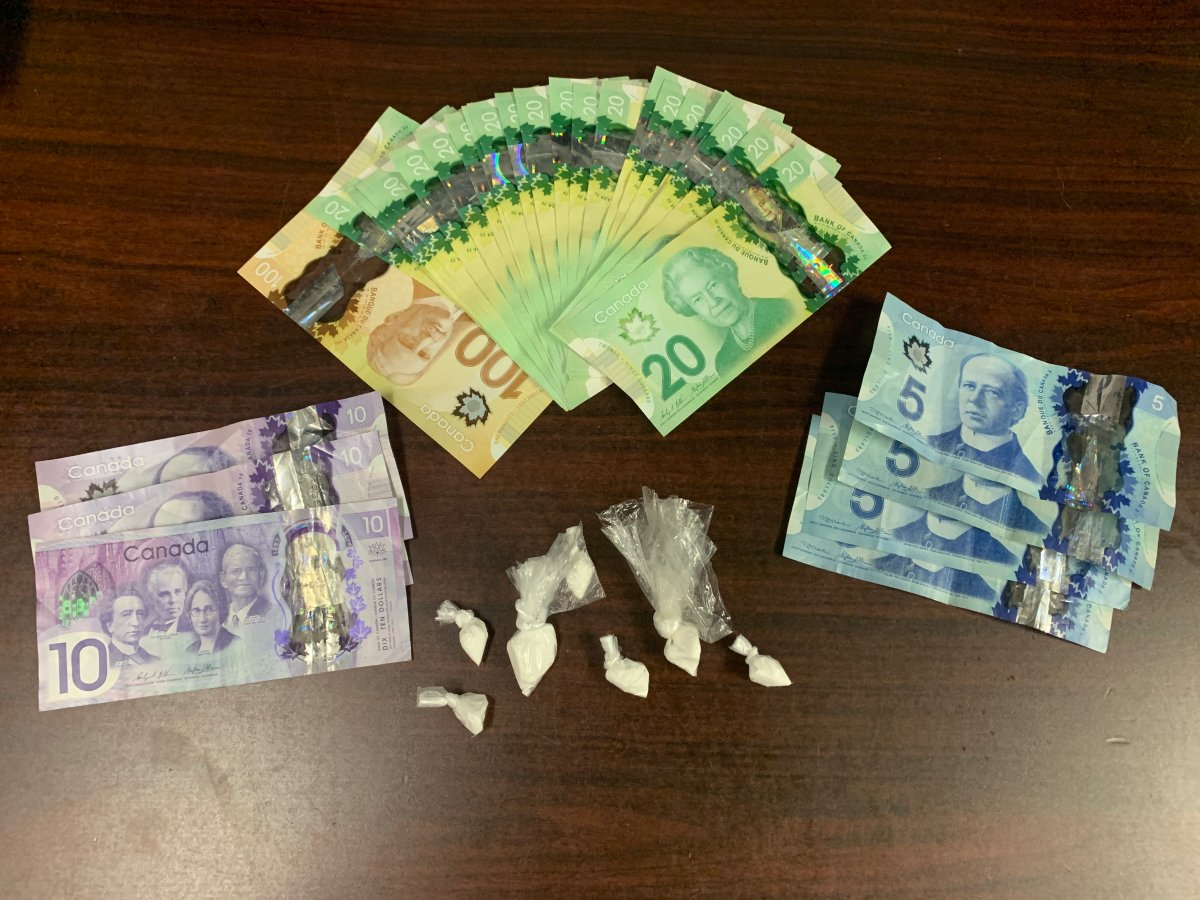 Crack and cash found by the Shelburne RCMP officer.