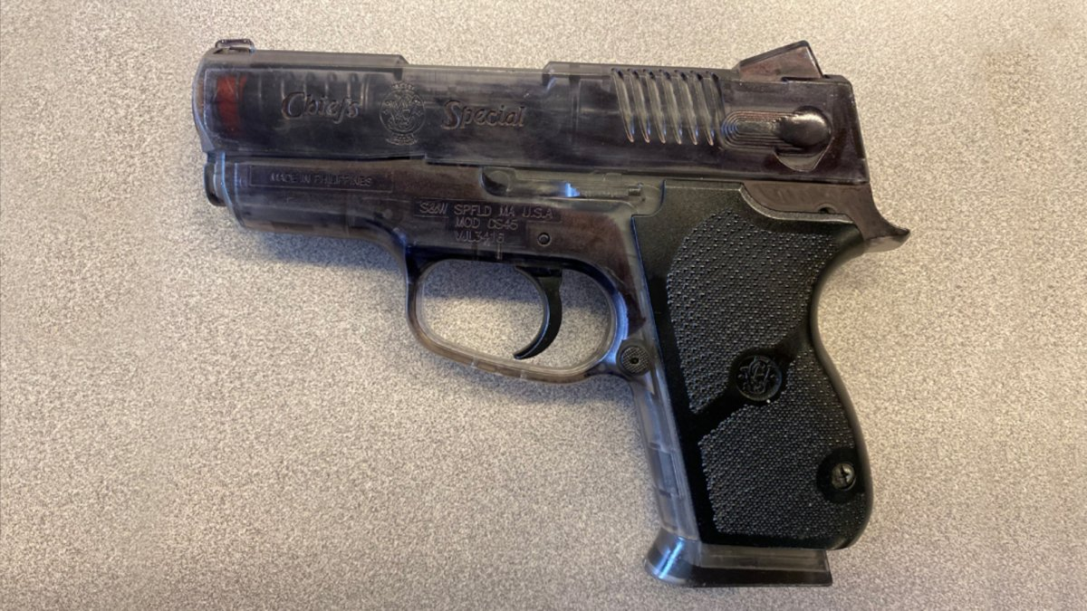 Police recovered an imitation firearm from a man who allegedly pointed the gun in two separate incidents in Hamilton's north end.