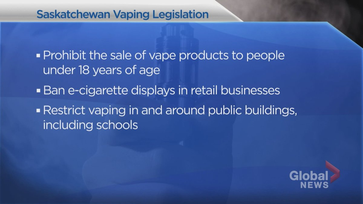 Vaping regulations that came into effect in Saskatchewan in February limit sale of vaping products to adults, ban their promotion in retail stores and ban their use in some public spaces.