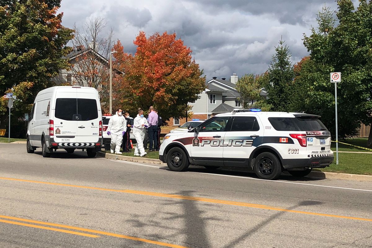 Guelph police are conducting an investigation at a home on Elmira Road and Flaherty Drive.