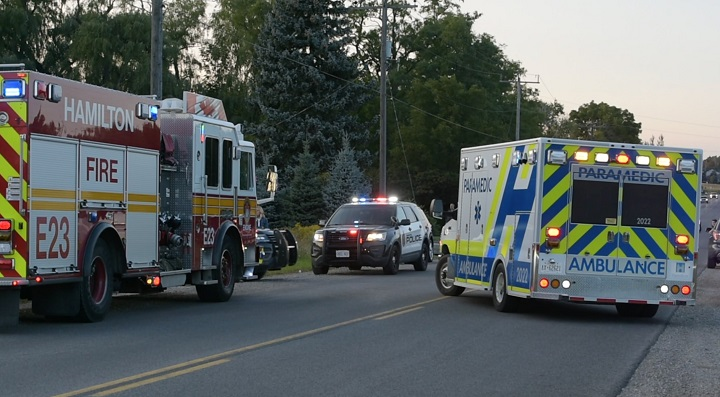 Crews on scene in Flamborough, Ont. following a horseback riding incident.