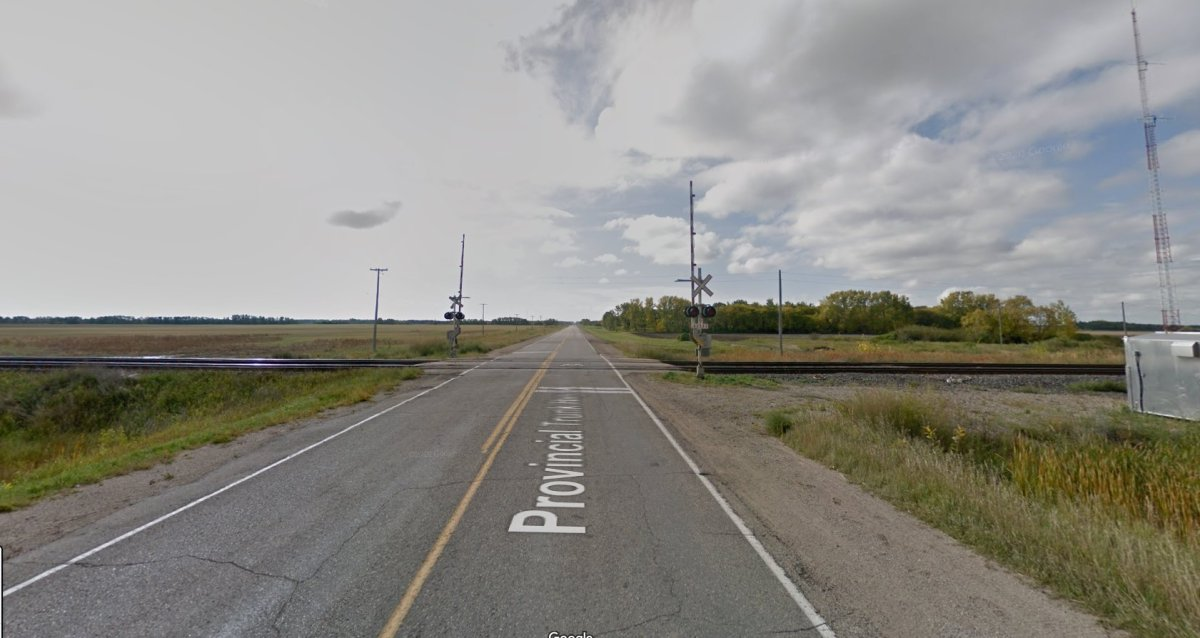 This is where a crash between a SUV and a CN train took a motorist's life on Friday.
