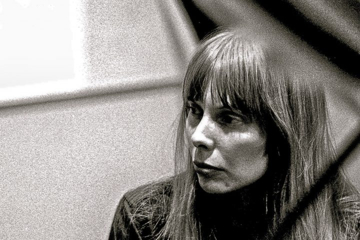 """Musician Joni Mitchell recording her first album """"Song to a Seagull"""" at Sunset Sound Recorders in 1967 in Los Angeles, California. An Ottawa drummer's estate has now revealed a rare recording of Mitchell by Jimi Hendrix in 1968."""