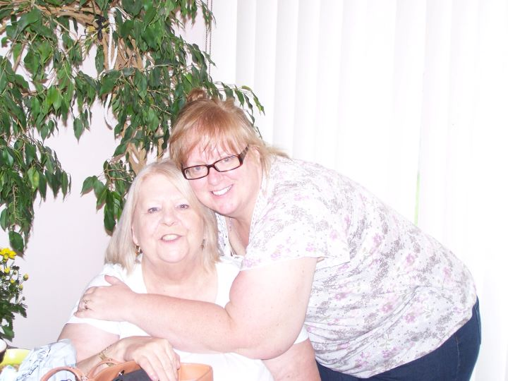 Politakis is pictured hugging Kantor, her mother, before she was admitted to Owen Hill Care Community. Kantor died of COVID-19 in May.