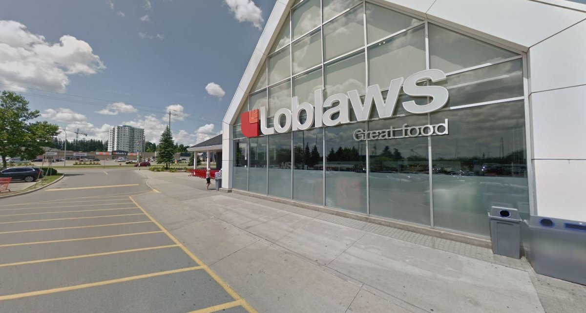 """Loblaw confirmed an employee at the Loblaws at 1740 Richmond Street North """"recently tested positive on a presumptive test for COVID-19.""""."""