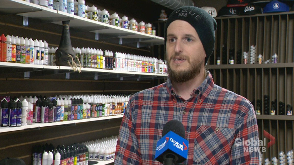 Queen City Vapes owner Mike Smider thinks an outright ban on flavoured e-juice could have negative effects.