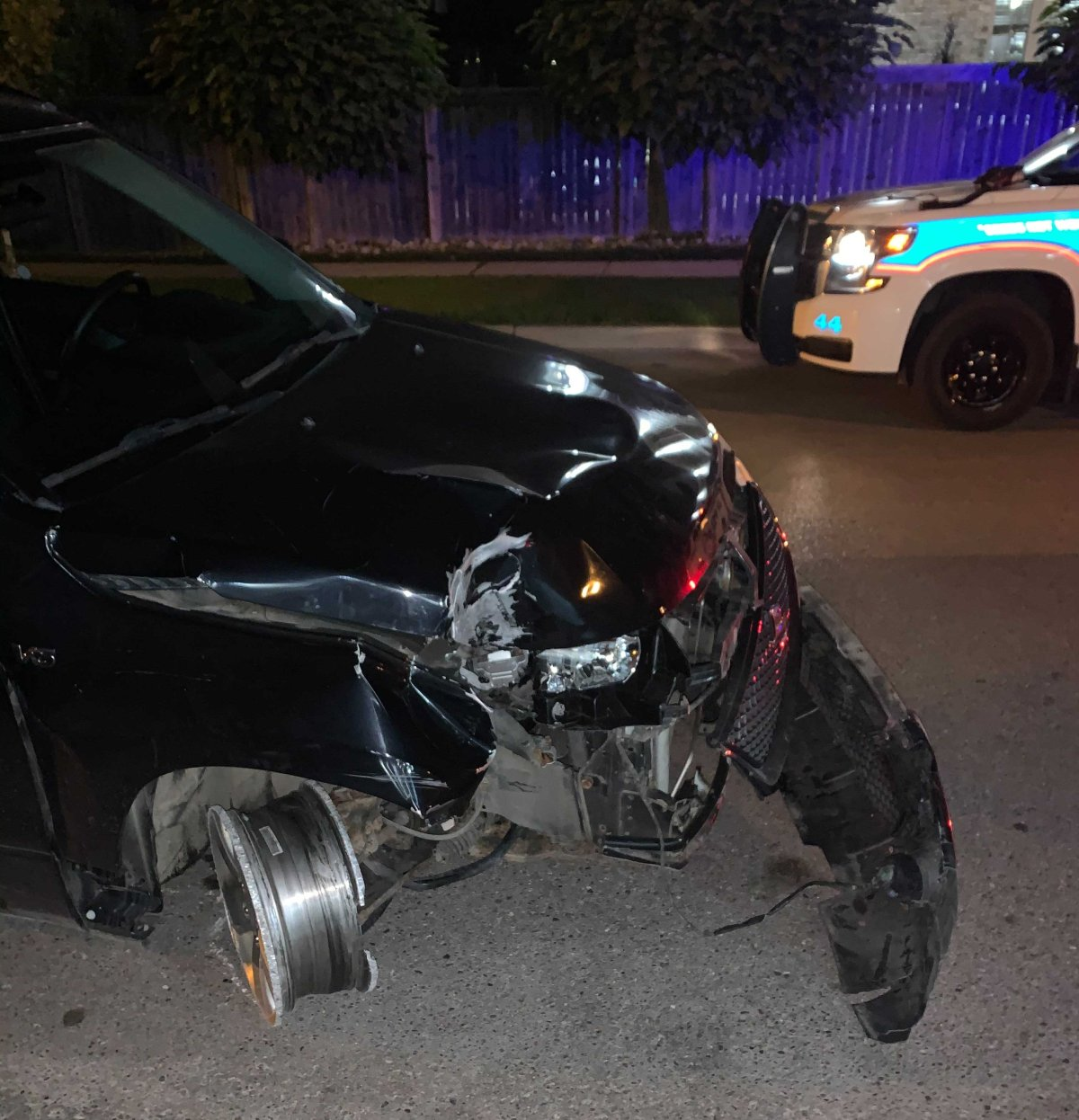 Police have charge a London teen following several collisions late Monday evening.