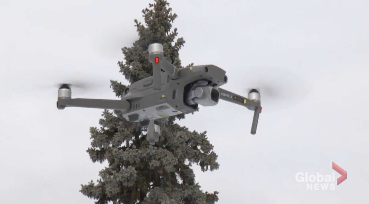 Peterborough police used its drone to locate three teenagers reported lost in the woods in Cavan-Monaghan Township.