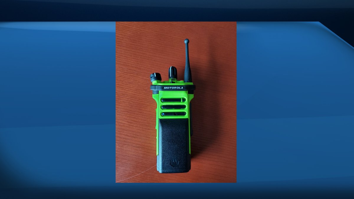 A pair of these radios went missing from a Kitchener fire station.
