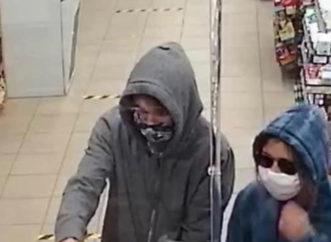 RCMP have released a picture of two suspects from a robbery in Stony Plain, Alta., on Sept. 12, 2020.
