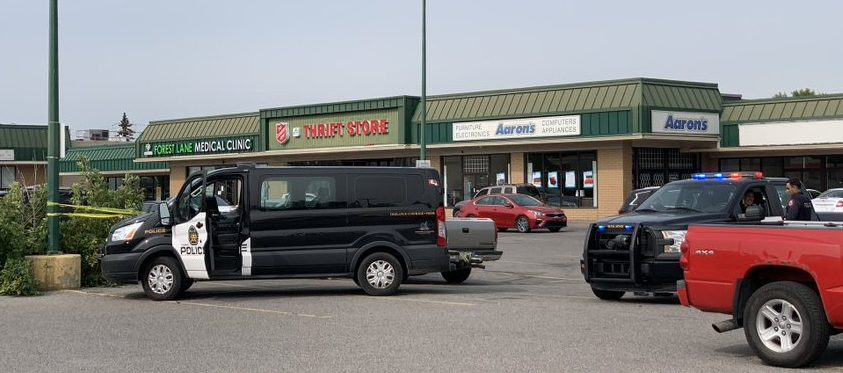 Police responded to a stabbing and robbery a short distance away from a homicide in Calgary on Saturday, Sept. 12, 2020.
