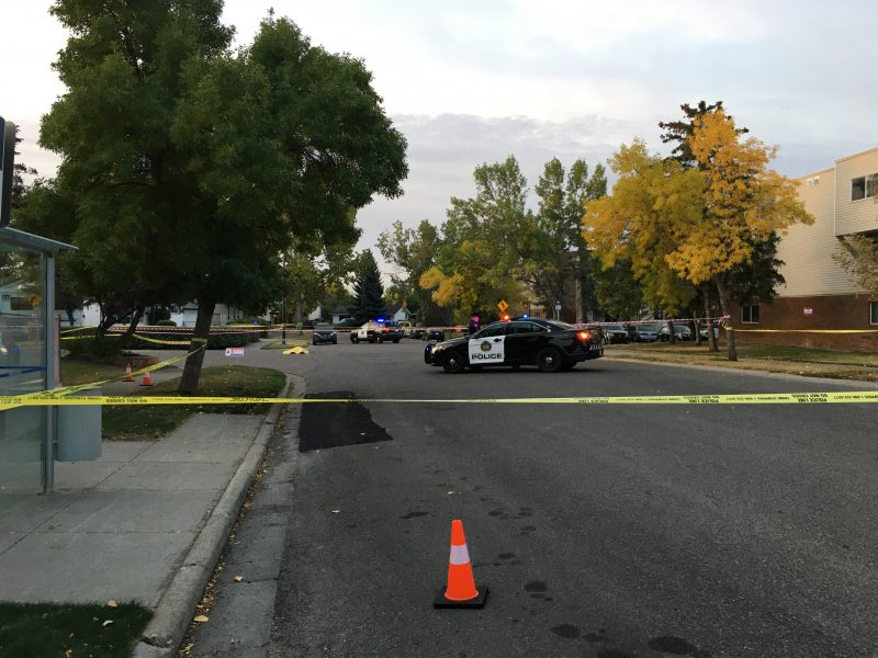 Calgary police investigate a fatal stabbing in the 100 block of Lynnview Road S.E. on Tuesday, Sept. 22, 2020.