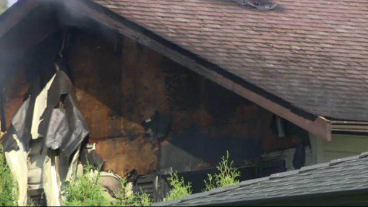 Fire damaged a home in Tsawwassen, B.C.