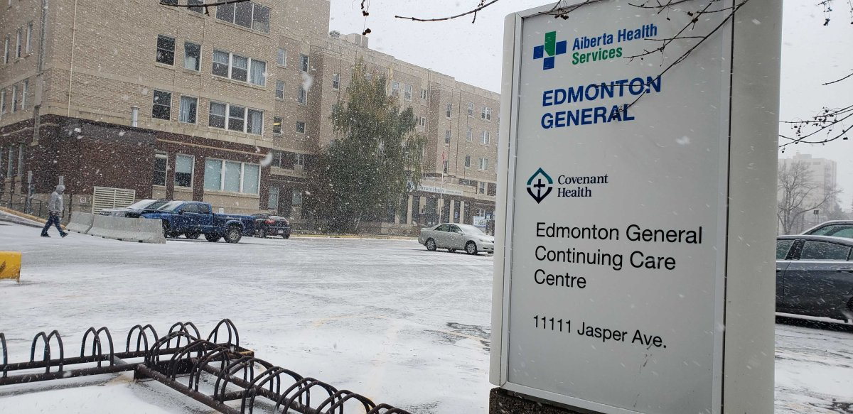 Edmonton General Continuing Care Centre in Edmonton, Oct. 22, 2020.