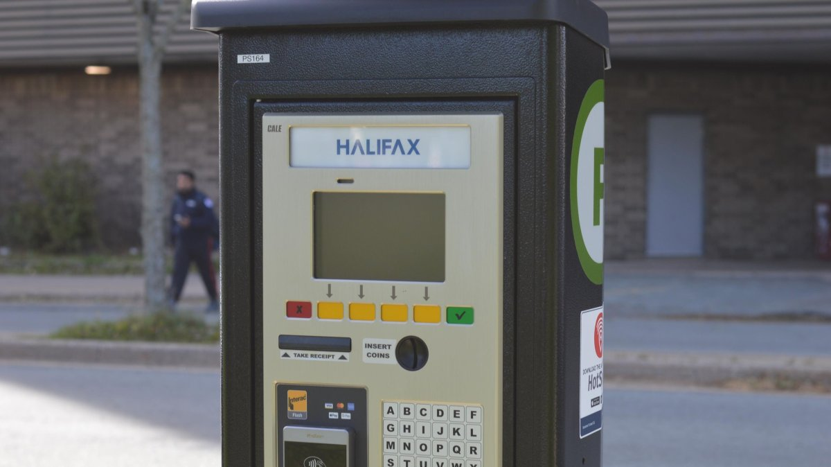 File - A parking pay station in Halifax on Oct. 12, 2020.