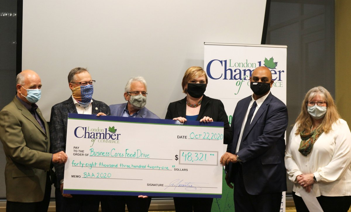 Business Cares Food Drive sees early $48K donation from London Chamber of Commerce - image