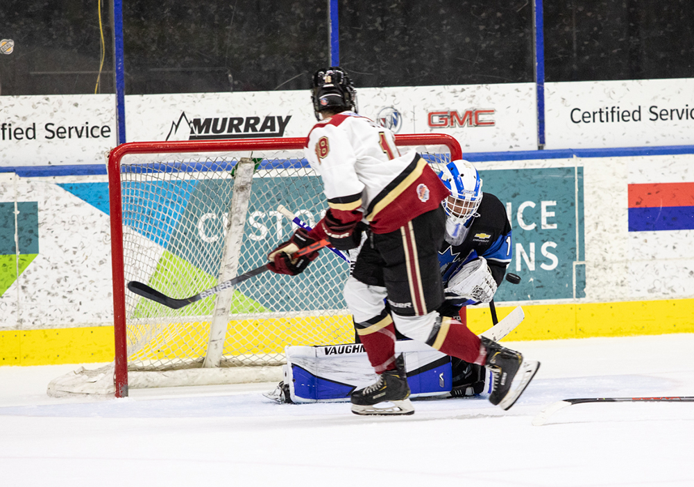 Penticton goaltender Yaniv Perets stopped 31 shots in the Vees' 3-2 win on Friday night. The two teams meet again Saturday night in West Kelowna.