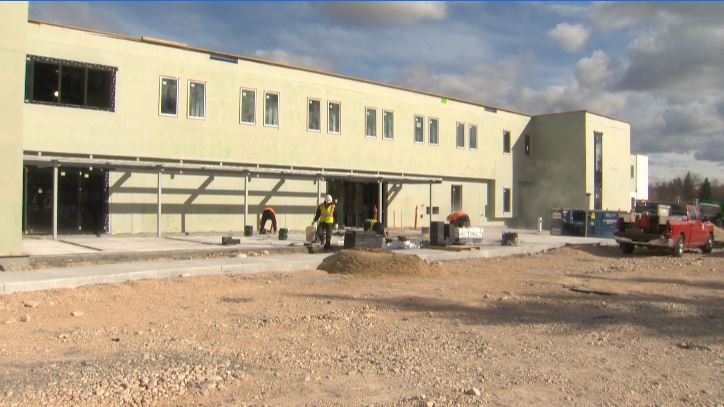 Construction on Winnipeg's Bruce Oake Recovery Centre more than 50% complete.