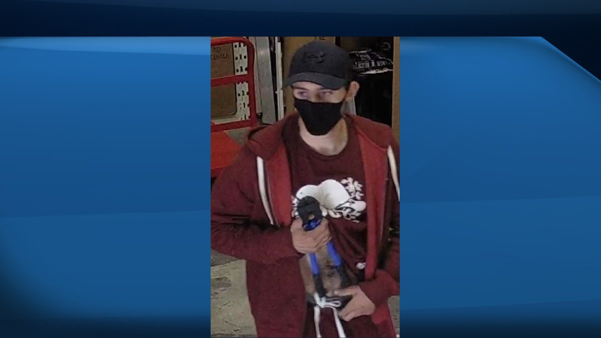 Belleville are asking for the public's help to identify a suspect in a string of recent thefts at local businesses.