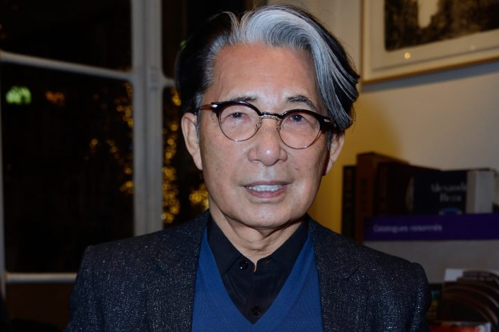 Kenzo Takada attending the book signing of Kenzo Takada Par Madame Kazuko Masui at Artcurial Library in Paris, France on November 21, 2018.