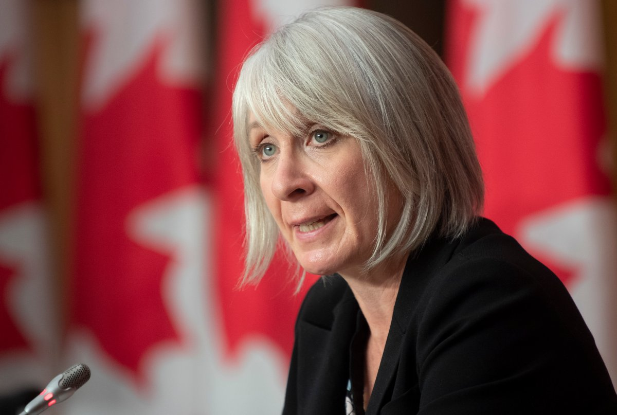 Minister of Health Patty Hajdu responds to a question during a news conference Monday October 5, 2020 in Ottawa.