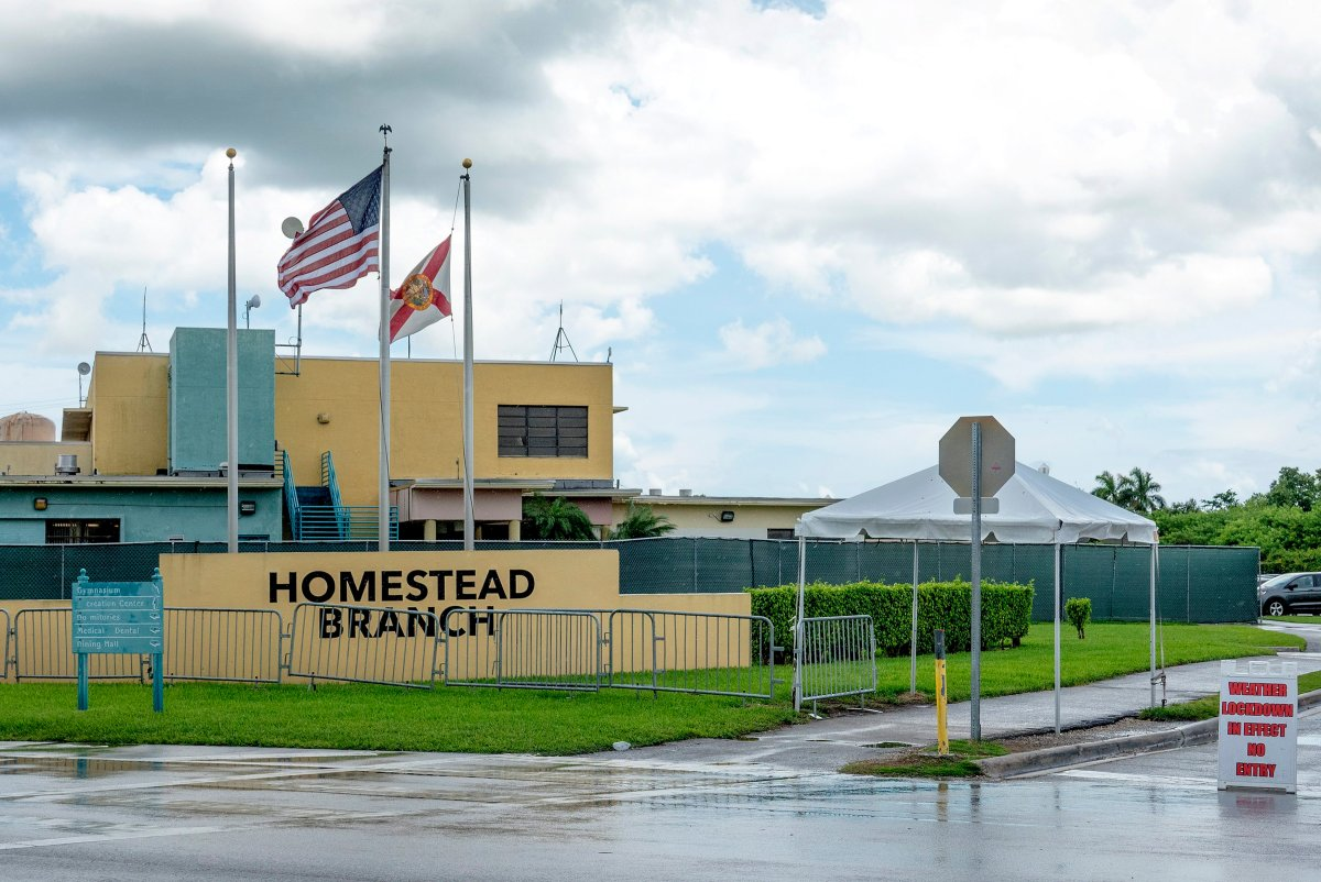 A view of the Homestead Temporary Shelter for Unaccompanied Children in Homestead, Florida, on Aug. 3 2019.
