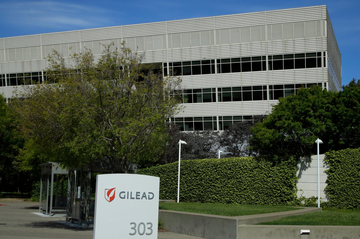 FILE - This is an April 30, 2020, file photo showing Gilead Sciences headquarters in Foster City, Calif.