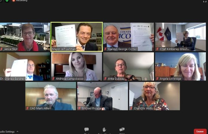 """On Monday, representatives from five local organizations met over Zoom to sign what's being described as a """"landmark"""" community health agreement."""