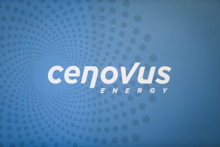 The Cenovus logo is seen at the company's headquarters in Calgary, Alta., on November 15, 2017.