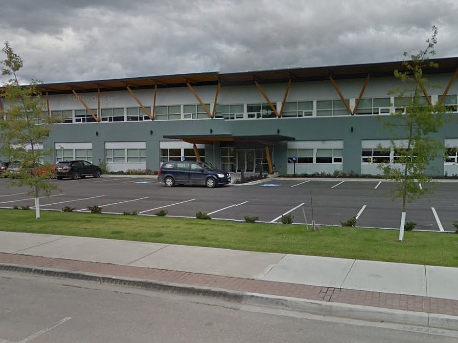 The Columbia Shuswap Regional District's administration office in Salmon Arm. The regional district stretches from Falkland in the southwest to Mica Creek in the north and Field in the east.