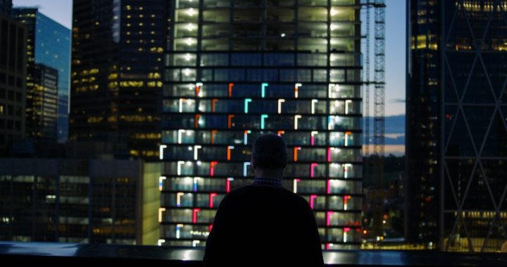 Dazzling light show at Calgary's Telus Sky skyscraper debuts Saturday