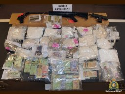 Continue reading: Drugs, guns, cash taken off the streets in gang-related investigation: Kelowna RCMP