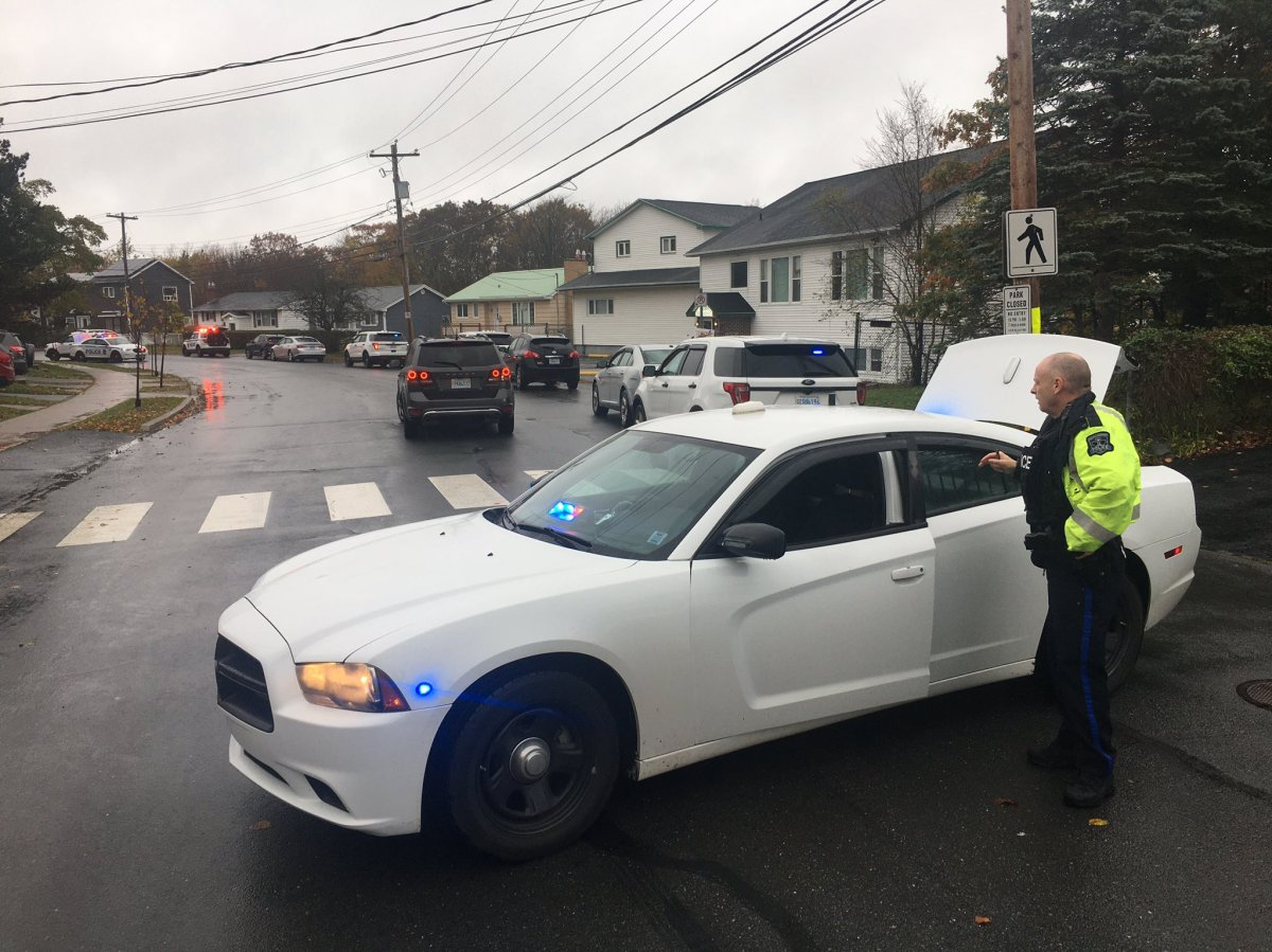 Halifax Regional Police respond to a weapons call at the area of Leaman Drive on Oct. 27, 2020.