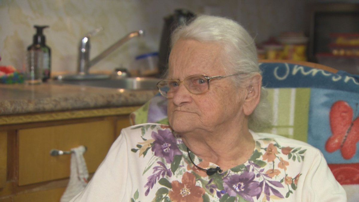 Eva Skaarup, 90, is legally blind and hard of hearing. Despite the odds, she managed to escape her burning home Sunday.