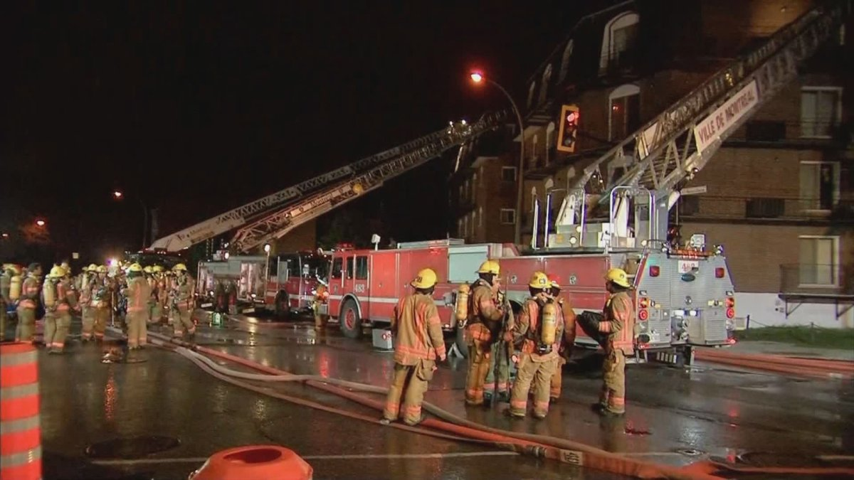 Montreal police are investigating after an early-morning fire in the city's east end.