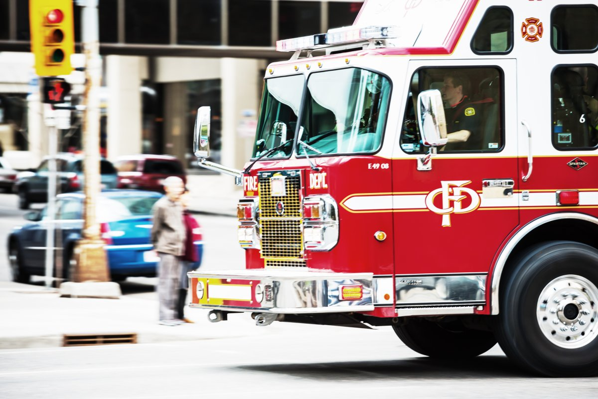 A file photo of a Calgary Fire Department fire truck.