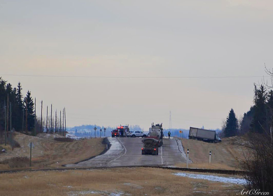 A collision about 10 kilometres north of Gibbons, on Highway 28 and Township Road 572, on Tuesday, October 20, 2020.