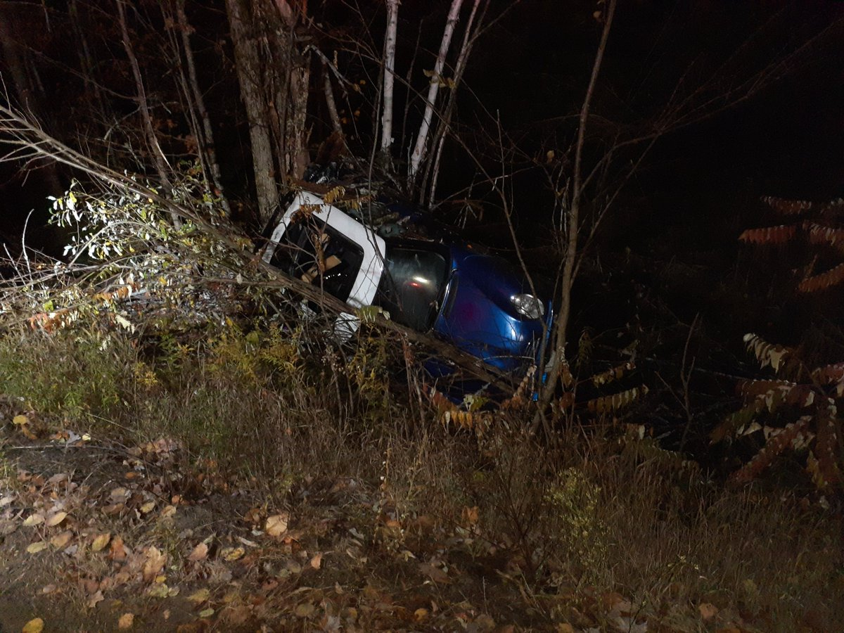 A driver died in hospital following a crash on Glamorgan Road in Highlands East Township on Friday night.