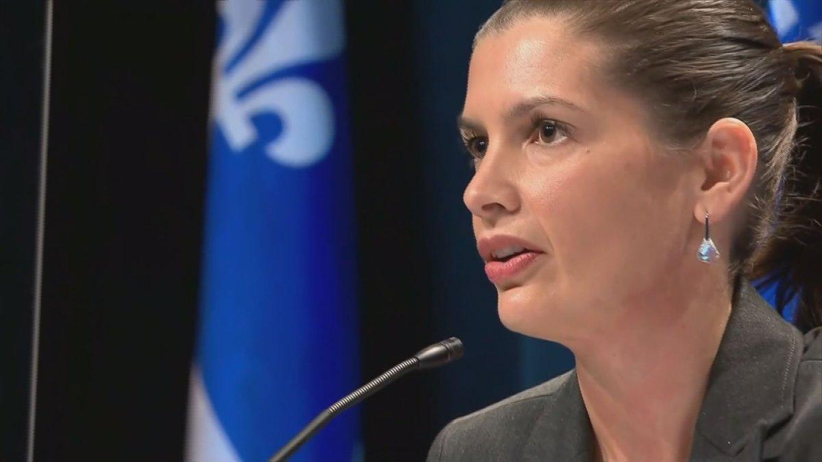 Quebec public security minister Geneviève Guilbault on October 20, 2020.