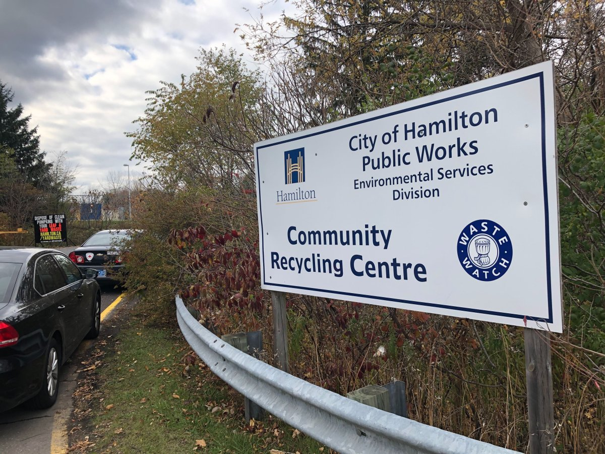 Hamilton community recycling centres were closed temporarily Oct. 31 due to an 'operational' issue involving funding.