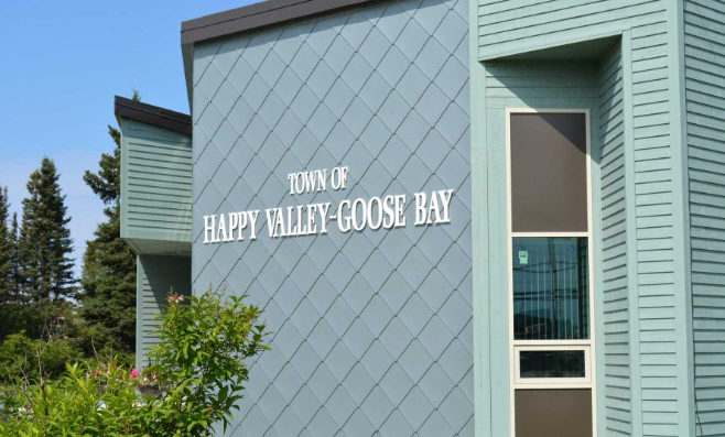 The Happy Valley-Goose Bay town hall is pictured on this website photo.