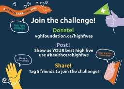 Continue reading: Global BC supports VGH & UBC Hospital Foundation: 'High Fives for Health Care'