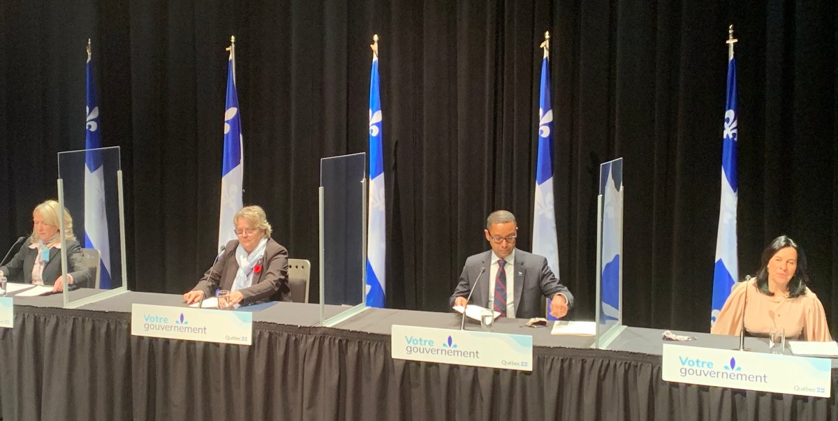 Montreal and Quebec officials unveiled their new emergency winter measures during a press conference on Thursday October 29, 2020.