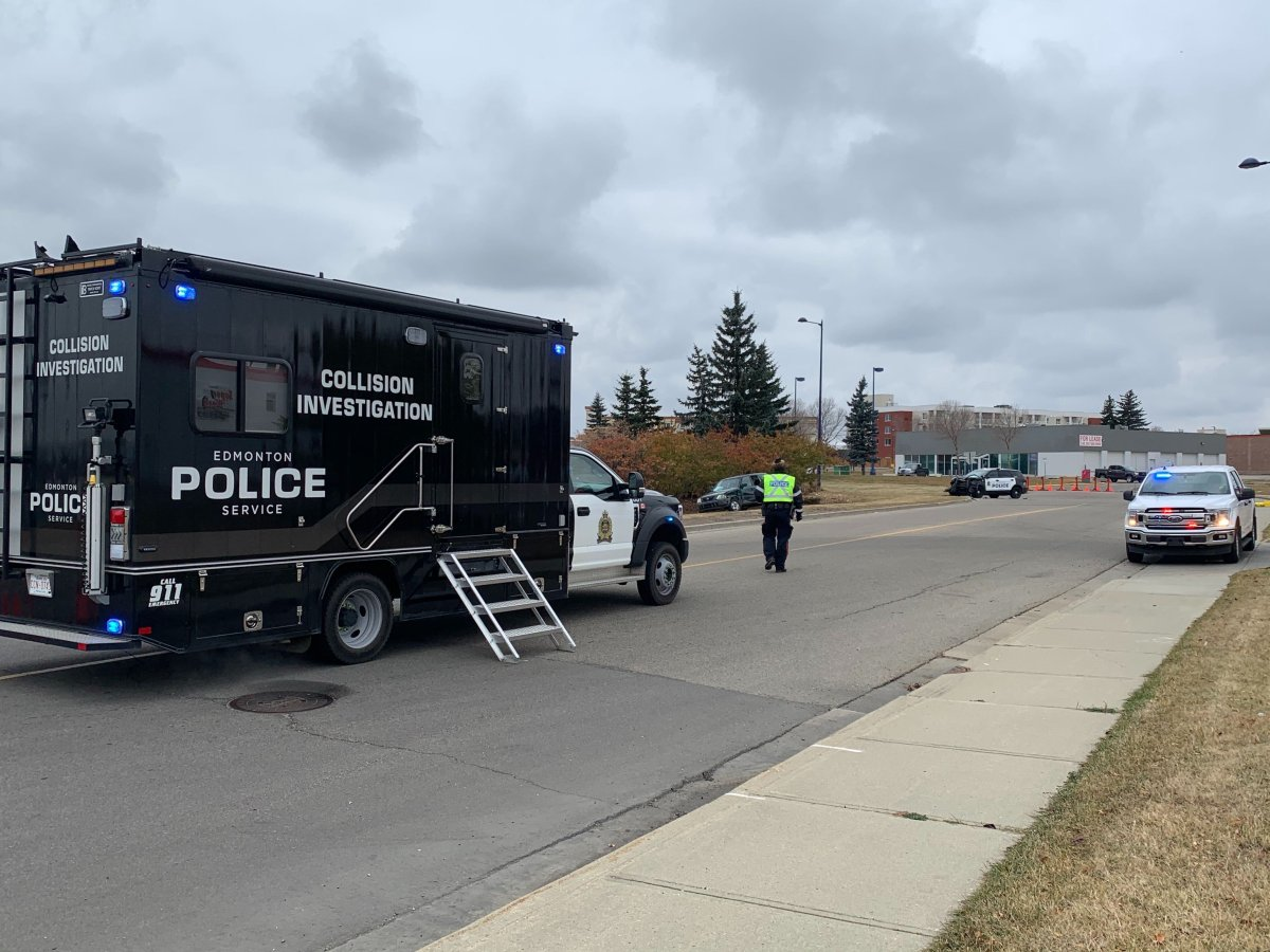 The Edmonton Police Service's Major Collisions Investigation Section is investigating after a police cruiser was involved in a collision on Sunday, Oct. 18, 2020.